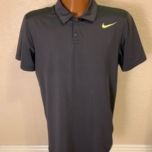 NIKE Dri-Fit Dark Grey Polo Shirt. Size Medium.